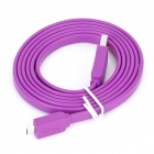 USB 2.0 Male to Micro USB Male Flat Data Cable - Purple (150cm-Length)