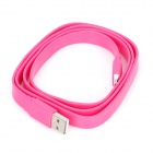 Stylish USB Male to Micro USB Male Charging Data Flat Cable - Deep Pink (100cm-Length)