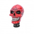 Cool Skull Style Resin Car Gear Shift Knob - Red