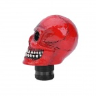 Estilo fresco del cráneo Resina Car Gear Shift Knob - Red