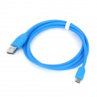USB Male to Micro USB Male Charging Data Cable for Cellphones - Light Blue (93cm)