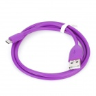 USB 2.0 Male to Micro USB Male Data Charging Cable for Samsung / Nokia / HTC HD2 + More - Purple