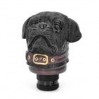 Cute Shar Pei Dog Style Resin Car Gear Shift Knob - Black