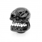 Cool Skull Style Resin Car Gear Shift Knob - Black + White Tooth