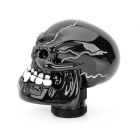 Cool estilo crânio Resina Car Gear Shift Knob - Preto + Dente Branco