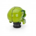 Estilo fresco del cráneo Resina Car Gear Shift Knob - Verde