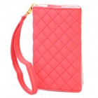 Wallet Style Protective PU Leather Case for iPhone 4 / 4S - Red