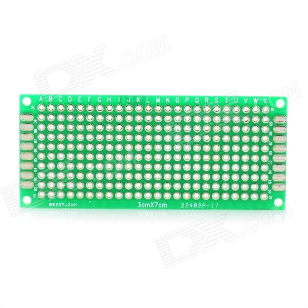 PCB Prototype Blank PCB 2 Layers Double Side 3 x 7cm Protoboard - Green 6 in 1 double sided pcb prototype boards set green