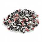 DC 30V 0.1A Tact Switch - Red + Silver (100-Piece)
