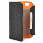 OMO Protective PU Leather Flip-Open Case for iPhone 4 / 4S - Black