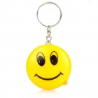 Stylish Smiling Face LED Blue Light Currency Detector Keychain - Yellow (3 x AG13)