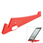 Compact Stainless Steel + Plastic Stand Mount Holder for Tablets - Red