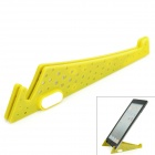 Compact Stainless Steel + Plastic Stand Mount Holder for Tablets - Yellow