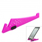 Compact Stainless Steel + Plastic Stand Mount Holder for Tablets - Purple