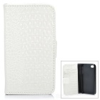 Protective PU Leather Case for Iphone 4 / 4S - White