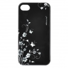 NILLKIN Flower Pattern Protective Back Case with Screen Protector for Iphone 4 / 4S - Black