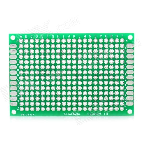 PCB Prototype Blank PCB 2 Layers Double Side 4 x 6cm Protoboard - Green 6 in 1 double sided pcb prototype boards set green