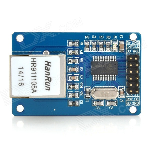 PCB ENC28J60 Ethernet Module  for Arduino (Works with Official Arduino Boards)