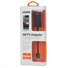 1080P Micro USB Male to HDMI Female Cable for Samsung i9100 / i9220 / HTC G14 / Flyer - Black (9cm)