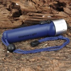 NEW-208 Sports Diving 80LM 1-Mode White Light Flashlight - Blue (4 x AA)