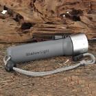 NEW-208 Sports Diving 195LM 1-Mode White Light Flashlight - Grey (4 x AA)