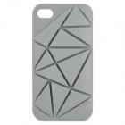 Stylish Plastic Back Case for iPhone 4 / 4S - Grey