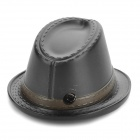 Western Cowboy Hat Style Butane Gas Lighter - Black