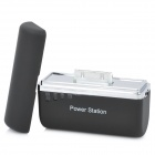 Mini 1500mAh Emergency Power Battery Charger for iPhone / iPod - Black