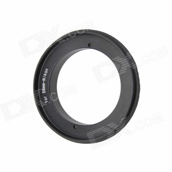 SMJ 58mm Macro Reverse Adapter Ring for Nikon - Black