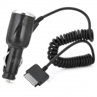 Car Cigarette Powered Charger for iPhone 4 / 4S - Black