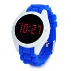 Fashion Touch Screen Silicone Band Red Light LED Digital Wrist Watch - Blue (1 x CR2032)