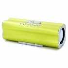 X168 Rechargeable MP3 Player Speaker w/ FM / USB / TF - Green