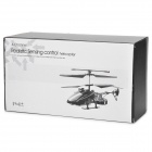 Rechargeable 4-Channel R/C Helicopter w/ IR Throttle Stick Controller and Gyroscope - Black + Silver