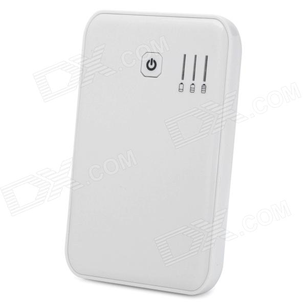 External 5000mAh Emergency Power Battery Charger for Iphone / Ipad - White