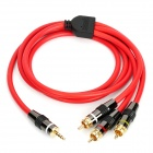 3.5 mm Jack to 3 RCA AdapterAV Cable - Black + Red (150cm)