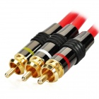 3.5 mm TRRS Jack to 3 RCA Adapter AV Cable - Black + Red (150cm)