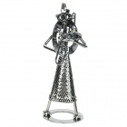 Musician Shaped Decoration Display Iron Crafts for Home / Office - Dark Silver