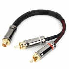 RCA Female to 2 RCA male Cable for Hi-Fi Audio Equipment (20cm)