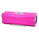 X168 Rechargeable MP3 Player Speaker w/ FM / USB / TF - Deep Pink