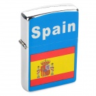 Stylish Spain National Flag Image Pattern Oil Lighter - Blue