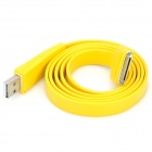 Flat USB Sync Data / Charging Cable for iPhone 3G / 3GS / 4 / 4S - Yellow