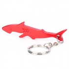 Shark Shaped Bottle Opener Keychain - Random Color