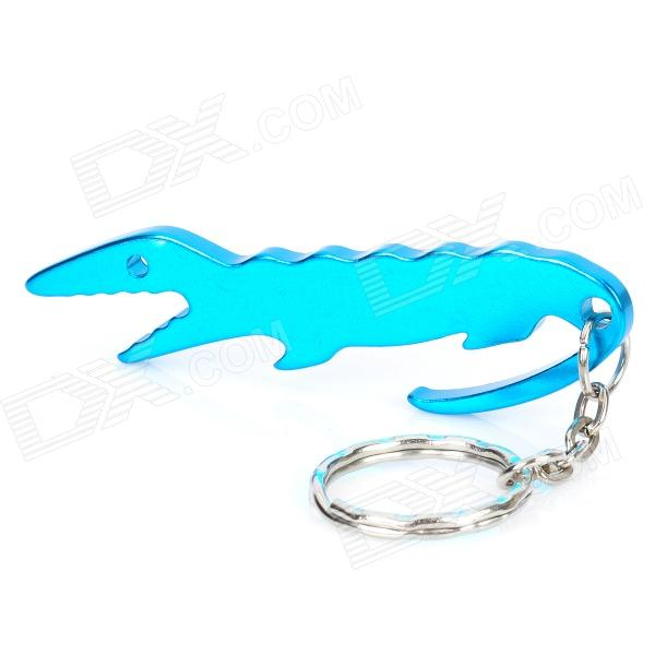 Crocodile Shaped Bottle Opener Keychain - Random Color