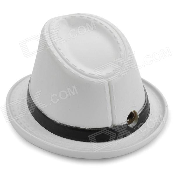 Western Cowboy Hat Style Butane Gas Lighter - White