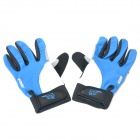 WONNY Outdoor Sports Camping Full Finger Gloves - Blue + White + Black (Pair)