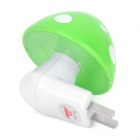 Light-Activated Cute Mushroom Style LED Green Night Light Lamp (2-Flat-Pin Plug / AC 220V)