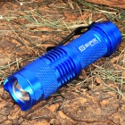 SIPIK Cree XR-E Q5 120LM LED White Light Zoom Flashlight w/ Clip - Blue (1 x AA)