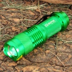 SIPIK Cree XR-E Q5 120LM LED White Light Zoom Flashlight w/ Clip - Green (1 x AA)