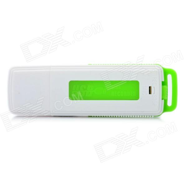 USB 2.0 Rechargeable Flash Drive Voice Recorder - White (4GB)