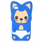 Cute Cartoon Ali Style Protective Silicone Case for iPhone 4 / 4S - Blue